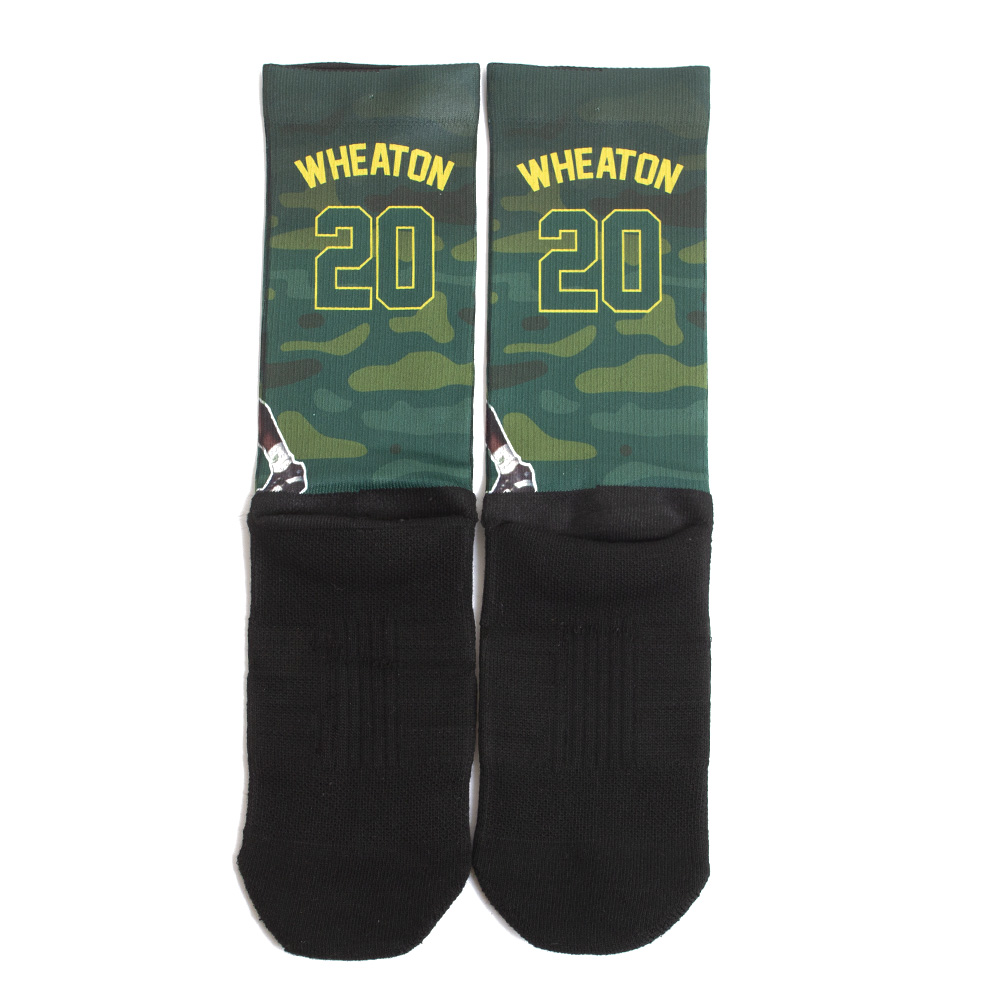 Strideline, Kenny Wheaton, Sublimated, Crew, Sock, Back, Detail