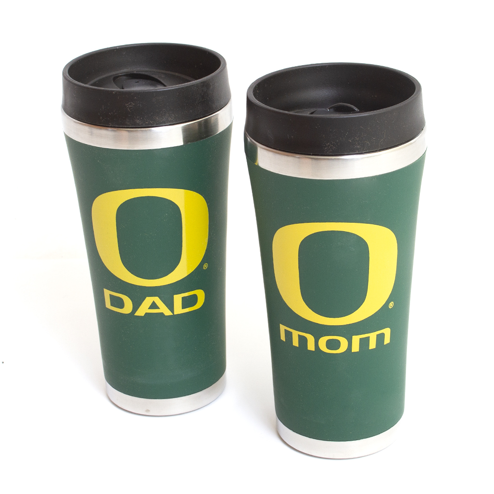 Classic Oregon O, Mom, Dad, Tumbler, Set