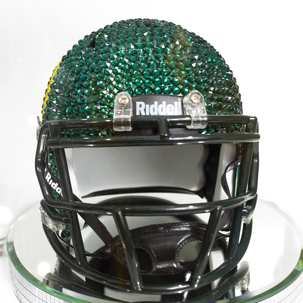 O-logo, Swarovski Crystal, Mini Helmet, Display Case, Grill