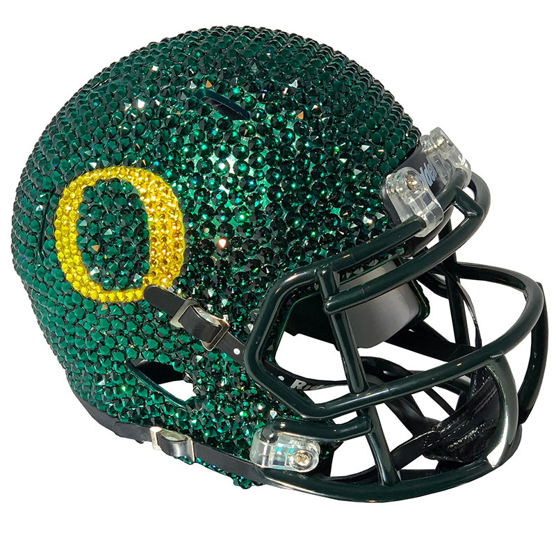 O-logo, Swarovski Crystal, Mini Helmet, Display Case, Right