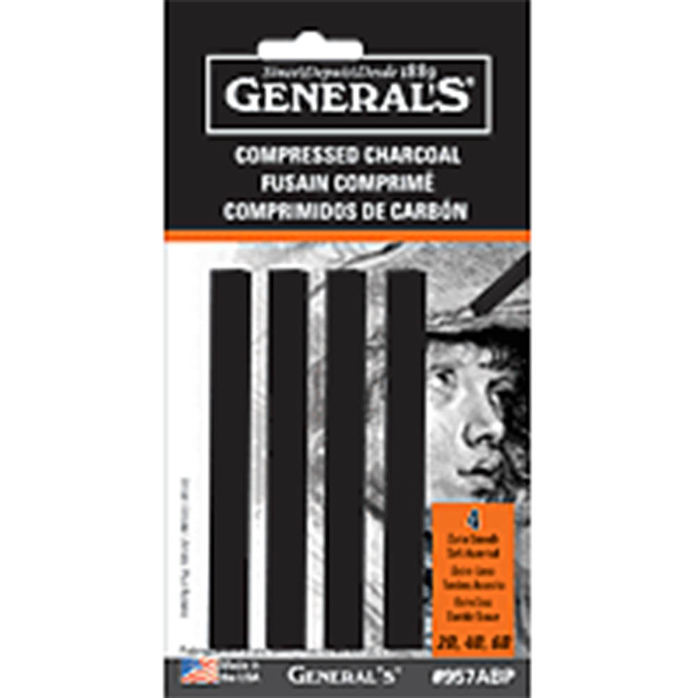 General Pencil, Compressed, Charcoal, Assorted