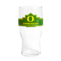 Go Ducks, O-logo, Oregon, Pub Glass, 20 Ounce