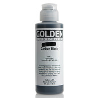 Golden Fluid Acrylic Paint 4oz_Carbon Black