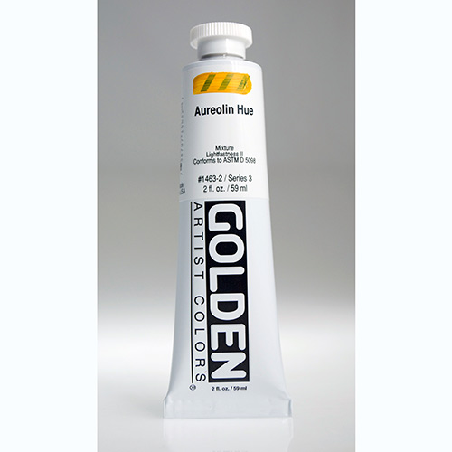 Golden Heavy Body Acrylic Paint 2oz_Aureolin Hue-1