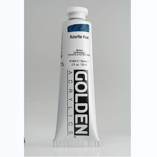 Golden Heavy Body Acrylic Paint 2oz_Azurite Hue-1