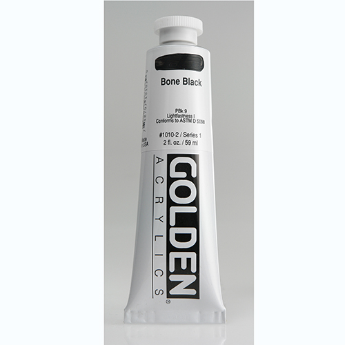 Golden Heavy Body Acrylic Paint 2oz_Bone Black-1
