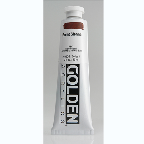Golden Heavy Body Acrylic Paint 2oz_Burnt Sienna-1