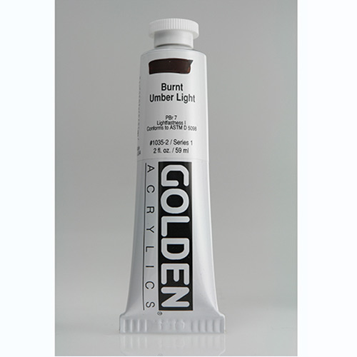 Golden Heavy Body Acrylic Paint 2oz_Burnt Umber Light-1