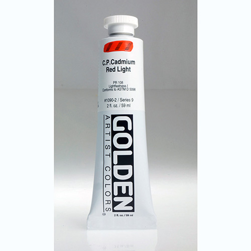 Golden Heavy Body Acrylic Paint 2oz_Cadmium Red Light