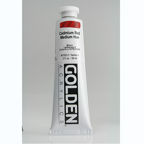 Golden Heavy Body Acrylic Paint 2oz_Cadmium Red Medium Hue-1