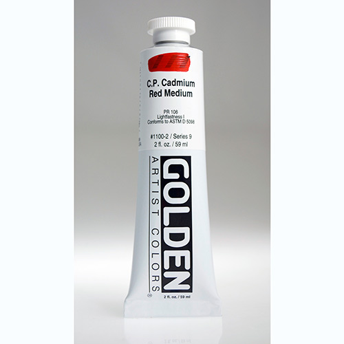 Golden Heavy Body Acrylic Paint 2oz_Cadmium Red Medium-1