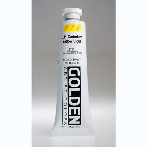 Golden Heavy Body Acrylic Paint 2oz_Cadmium Yellow Light-1