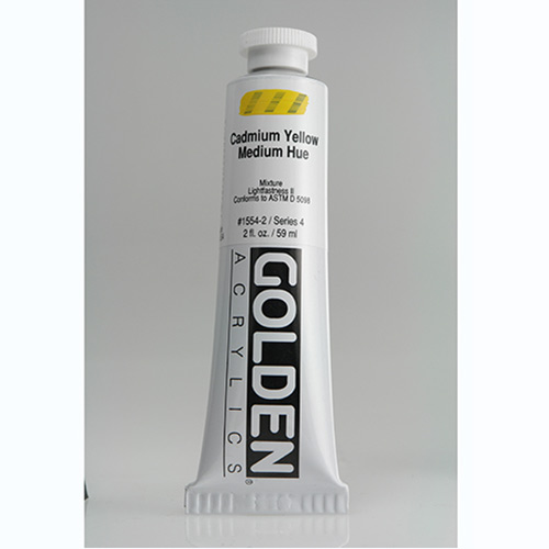 Golden Heavy Body Acrylic Paint 2oz_Cadmium Yellow Medium Hue