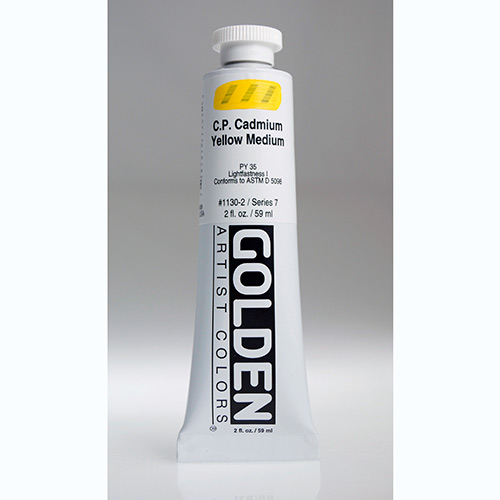 Golden Heavy Body Acrylic Paint 2oz_Cadmium Yellow Medium-1