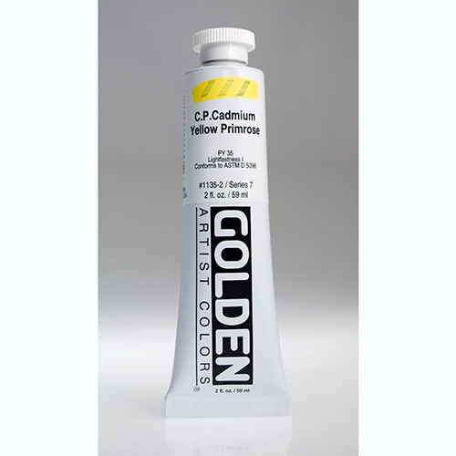 Golden Heavy Body Acrylic Paint 2oz_Cadmium Yellow Primrose-1