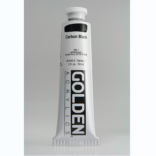 Golden Heavy Body Acrylic Paint 2oz_Carbon Black-1