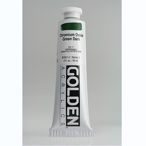 Golden Heavy Body Acrylic Paint 2oz_Chromium Oxide Green Dark-1