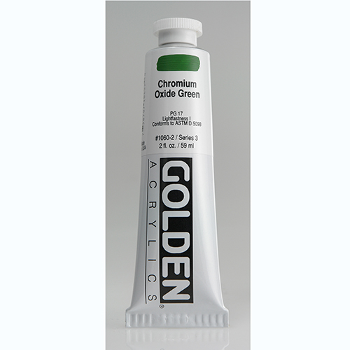 Golden Heavy Body Acrylic Paint 2oz_Chromium Oxide Green-1