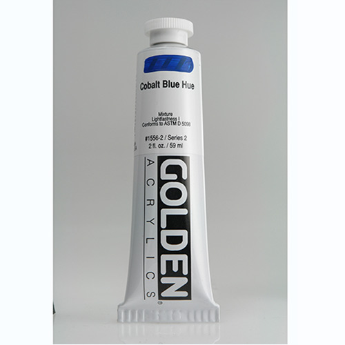 Golden Heavy Body Acrylic Paint 2oz_Cobalt Blue Hue