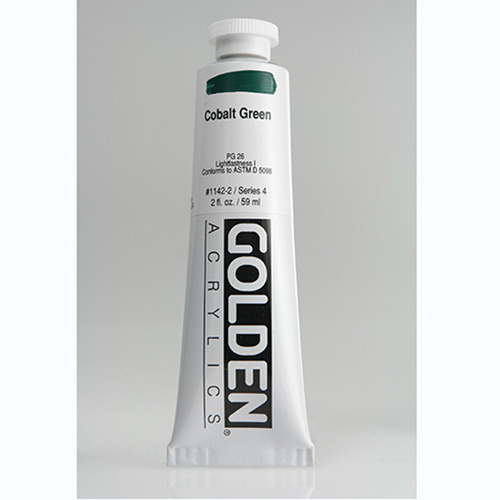 Golden Heavy Body Acrylic Paint 2oz_Cobalt Green-1