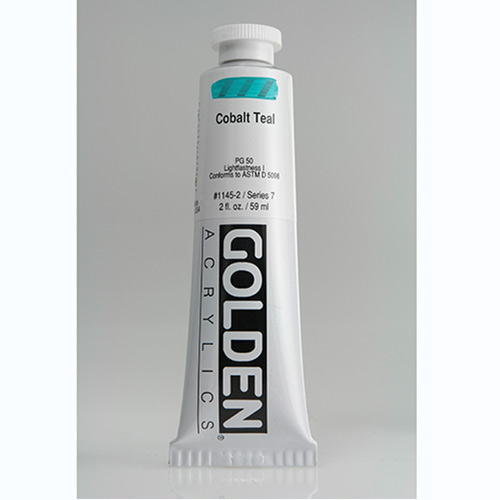 Golden Heavy Body Acrylic Paint 2oz_Cobalt Teal-1