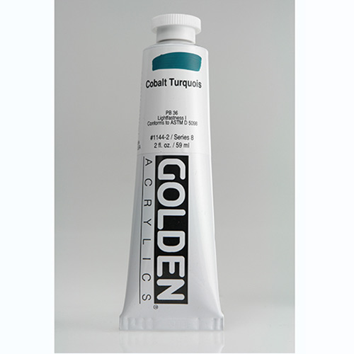 Golden Heavy Body Acrylic Paint 2oz_Cobalt Turquoise