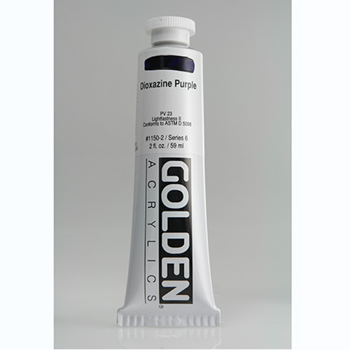 Golden Heavy Body Acrylic Paint 2oz_Dioxazine Purple