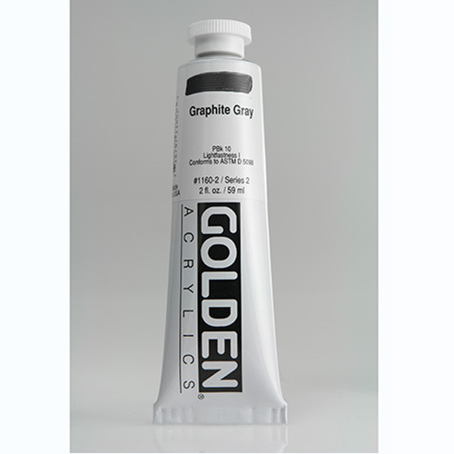 Golden Heavy Body Acrylic Paint 2oz_Graphite Grey