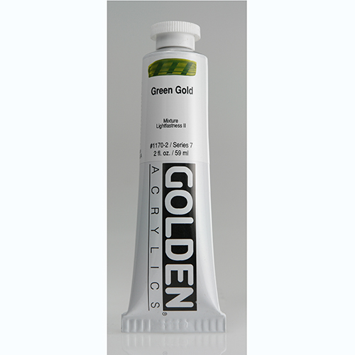 Golden Heavy Body Acrylic Paint 2oz_Green Gold
