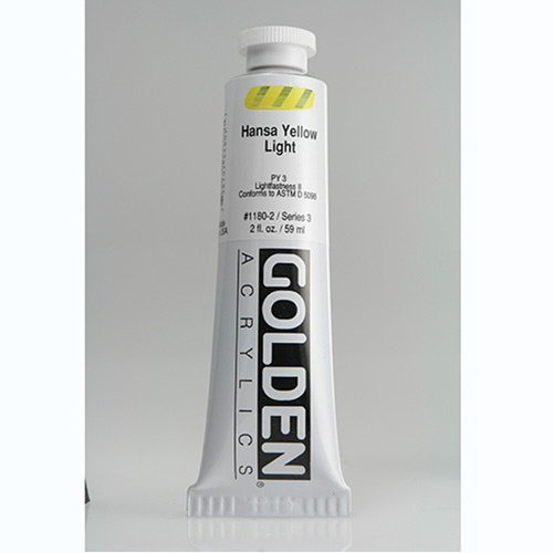 Golden Heavy Body Acrylic Paint 2oz_Hansa Yellow Light