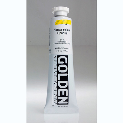 Golden Heavy Body Acrylic Paint 2oz_Hansa Yellow Opaque