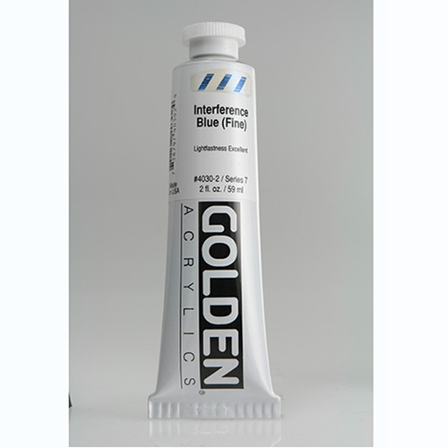 Golden Heavy Body Acrylic Paint 2oz_Interference Blue (Fine)
