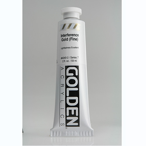 Golden Heavy Body Acrylic Paint 2oz_Interference Gold (Fine)