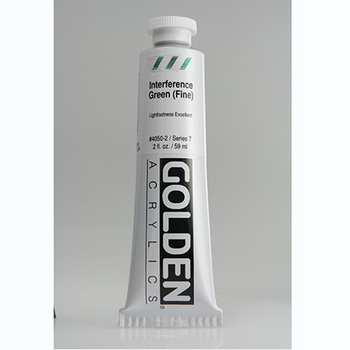 Golden Heavy Body Acrylic Paint 2oz_Interference Green (Fine)