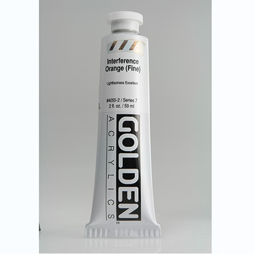 Golden Heavy Body Acrylic Paint 2oz_Interference Orange (Fine)
