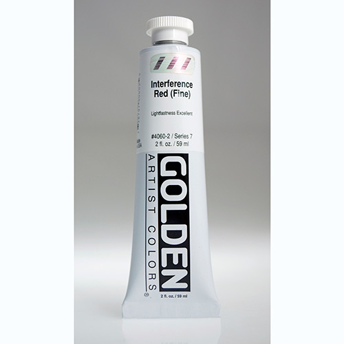 Golden Heavy Body Acrylic Paint 2oz_Interference Red (Fine)