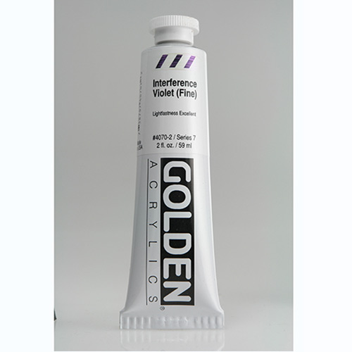 Golden Heavy Body Acrylic Paint 2oz_Interference Violet (Fine)