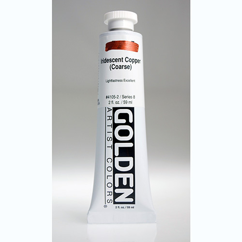 Golden Heavy Body Acrylic Paint 2oz_Iridescent Copper (Coarse)