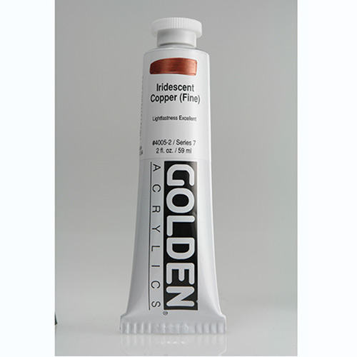 Golden Heavy Body Acrylic Paint 2oz_Iridescent Copper (Fine)