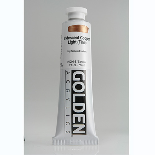 Golden Heavy Body Acrylic Paint 2oz_Iridescent Copper Light (Fine)