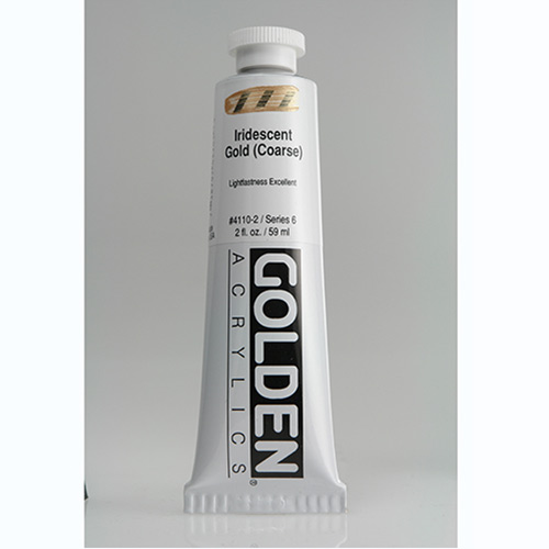 Golden Heavy Body Acrylic Paint 2oz_Iridescent Gold (Coarse)
