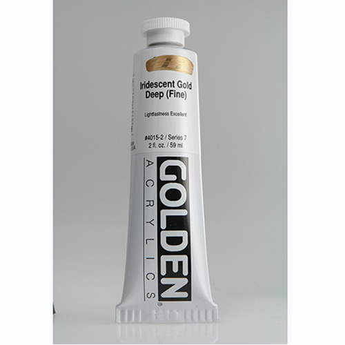 Golden Heavy Body Acrylic Paint 2oz_Iridescent Gold Deep (Fine)