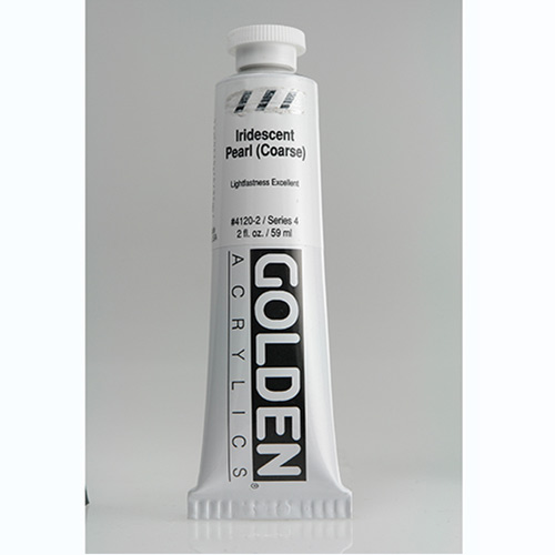 Golden Heavy Body Acrylic Paint 2oz_Iridescent Pearl (Coarse)