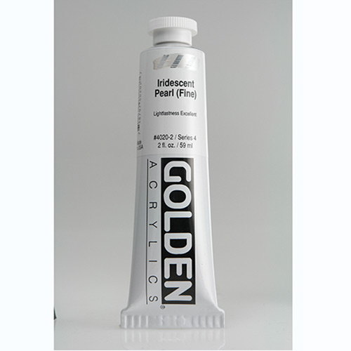 Golden Heavy Body Acrylic Paint 2oz_Iridescent Pearl (Fine)