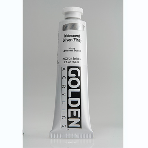 Golden Heavy Body Acrylic Paint 2oz_Iridescent Silver (Fine)