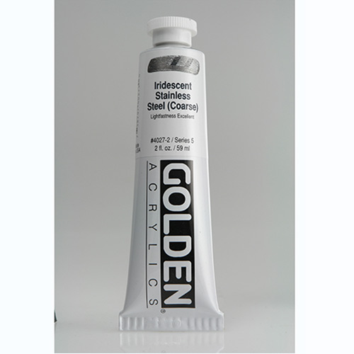 Golden Heavy Body Acrylic Paint 2oz_Iridescent Stainless Steel (Coarse)