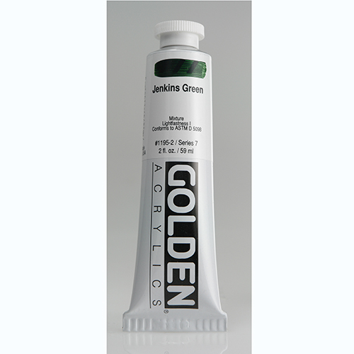 Golden Heavy Body Acrylic Paint 2oz_Jenkins Green