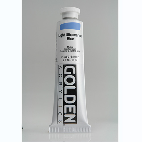 Golden Heavy Body Acrylic Paint 2oz_Light Ultramarine Blue