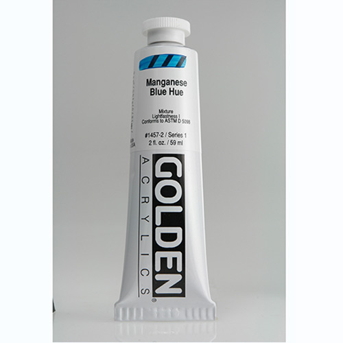 Golden Heavy Body Acrylic Paint 2oz_Manganese Blue Hue