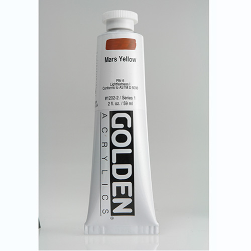 Golden Heavy Body Acrylic Paint 2oz_Mars Yellow